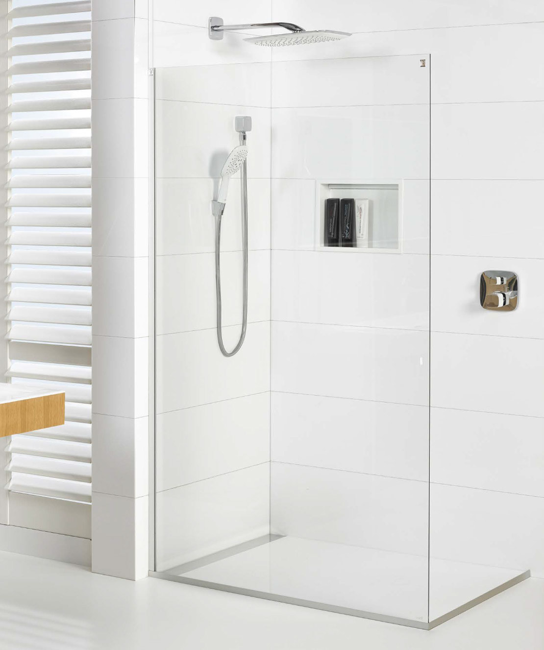 White Bathrooms Nz ellure™ tile look shower walls | atlantis bathroom style